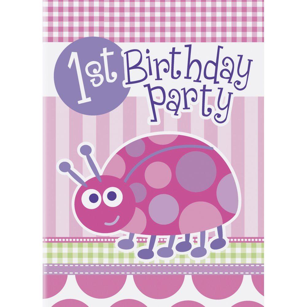 Ladybug Invitations 1St Birthday for great invitation example