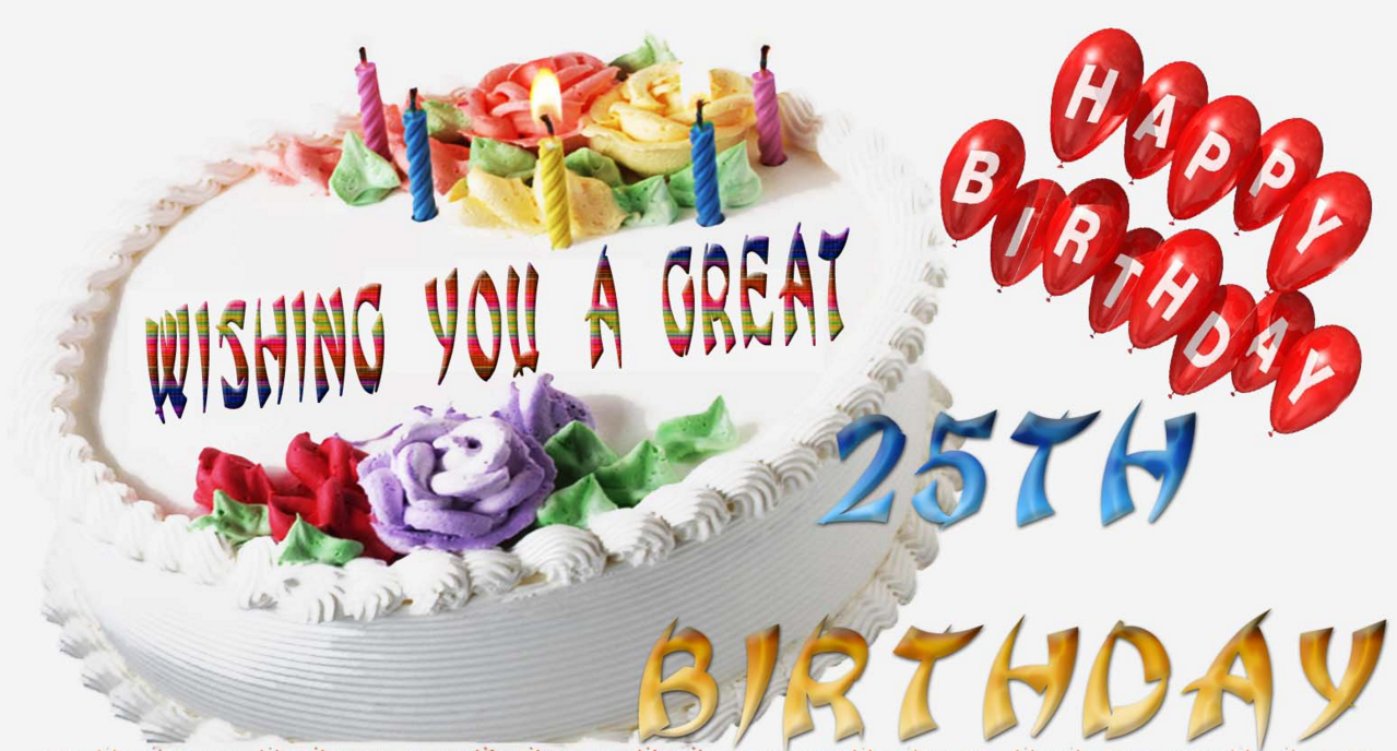 Amazing Outstanding 25Th Birthday Wishes Birthday Wishes Zone Personalised Birthday Cards Veneteletsinfo