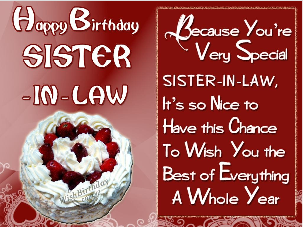 40 Birthday Wishes For Sister In Law 2016 Birthday Wishes Zone