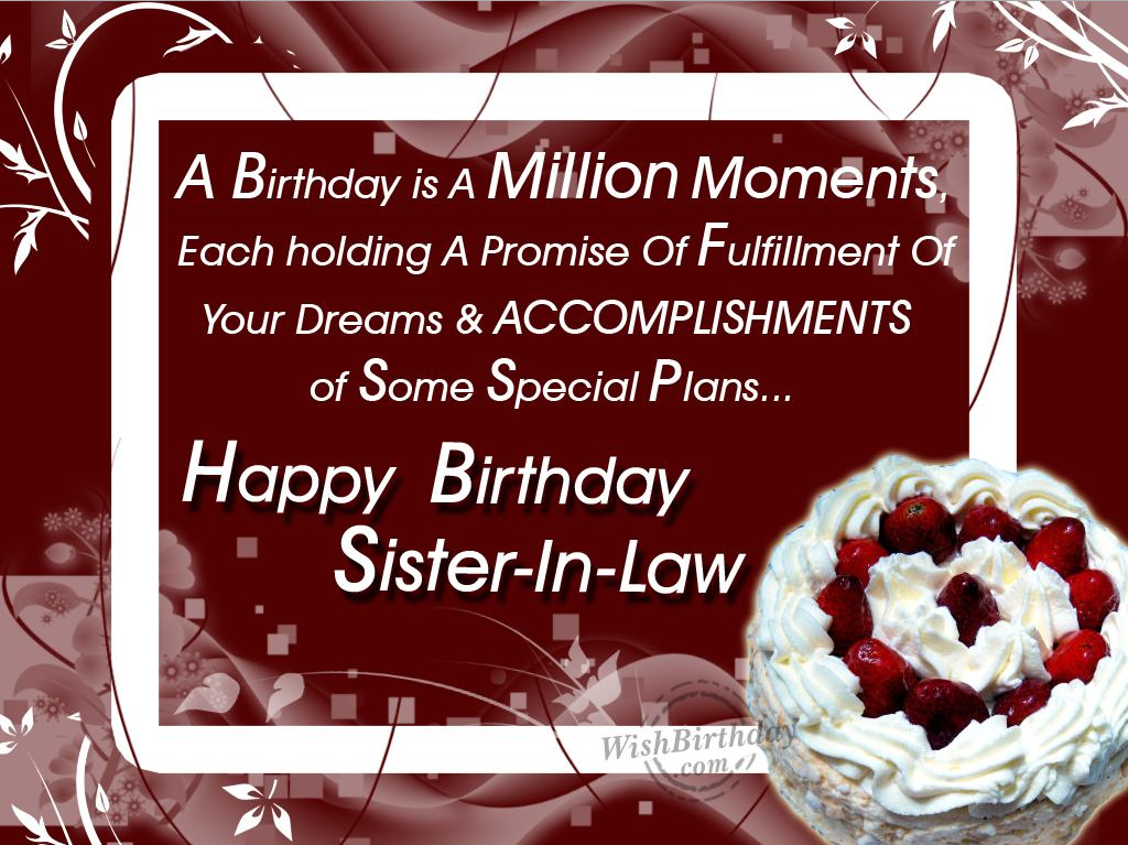 Sister In Law Poems: 40+ Birthday Wishes For Sister In Law 2016