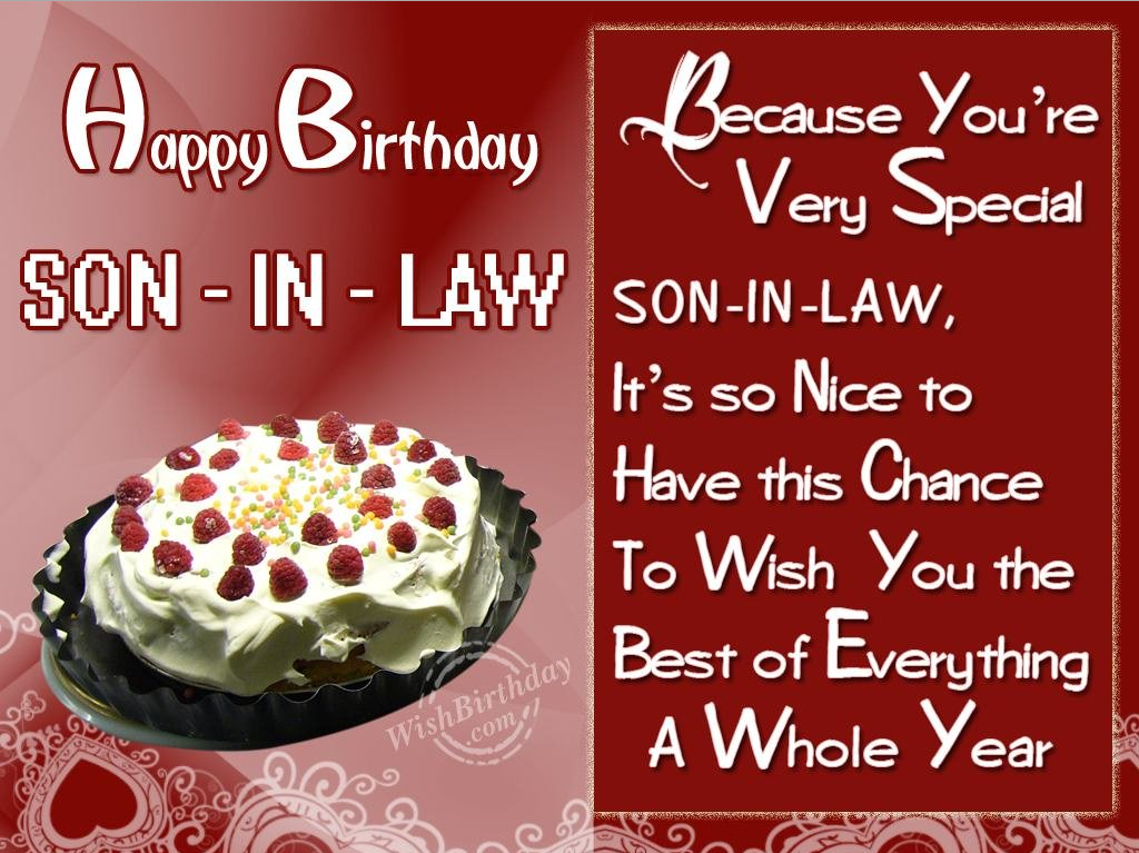 50 Birthday Wishes For Son In Law