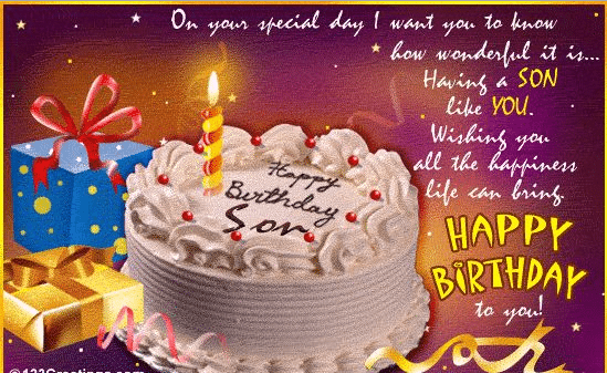 Awesome 50 Birthday Wishes For Beloved Son 2016 - Birthday Wishes Zone