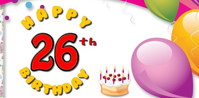 Happy 26th birthday wishes best 26th birthday greetings birthday cutest happy 26th birthday sayings m4hsunfo