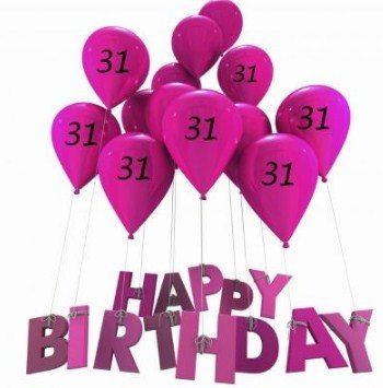 Happy 31st Birthday Wishes Best 31st Birthday Greetings Birthday