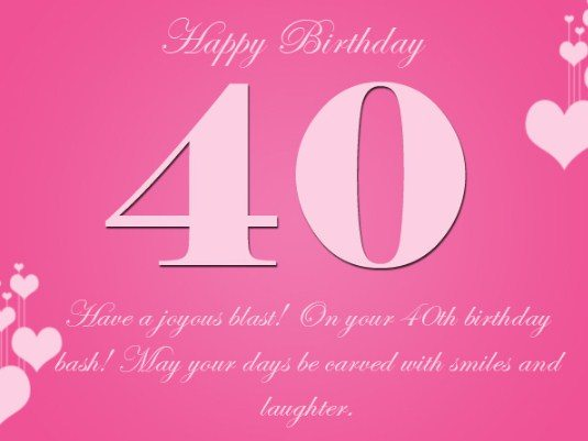 Latest 40th Birthday Wishes