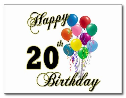Happy 20th Birthday Wishes And Greetings