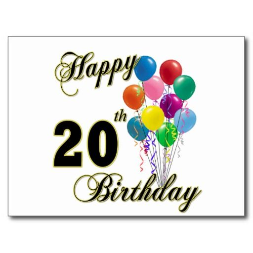 Happy 20th Birthday Wishes And Greetings Birthday Wishes Happy 20 Birthday Wishes